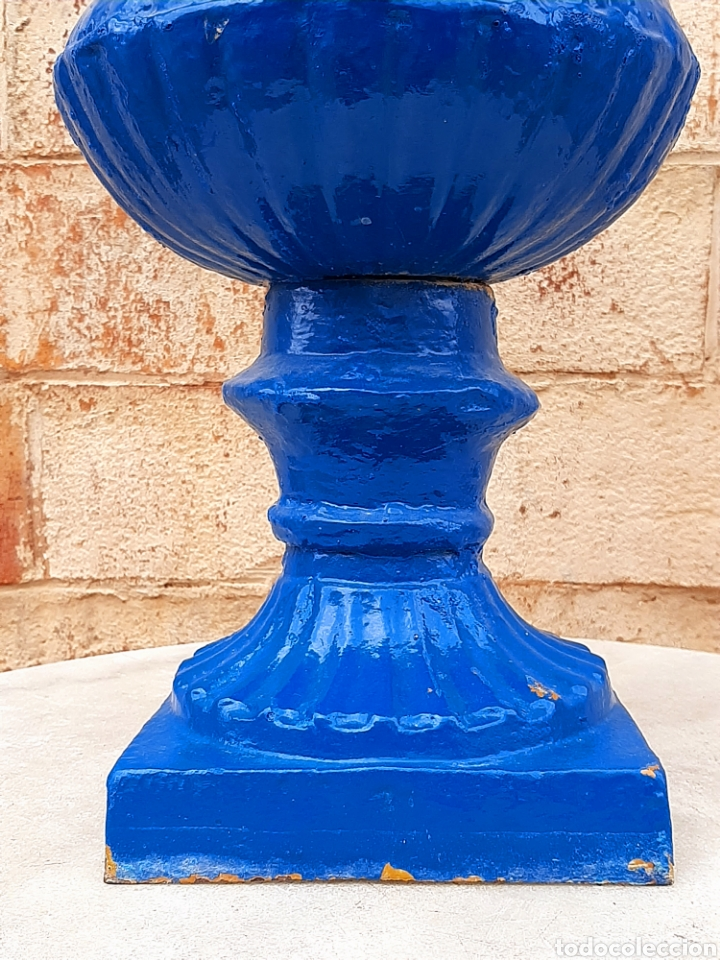 Antigüedades: Copa - macetero - jardinera antigua francesa - Foto 5 - 207081043