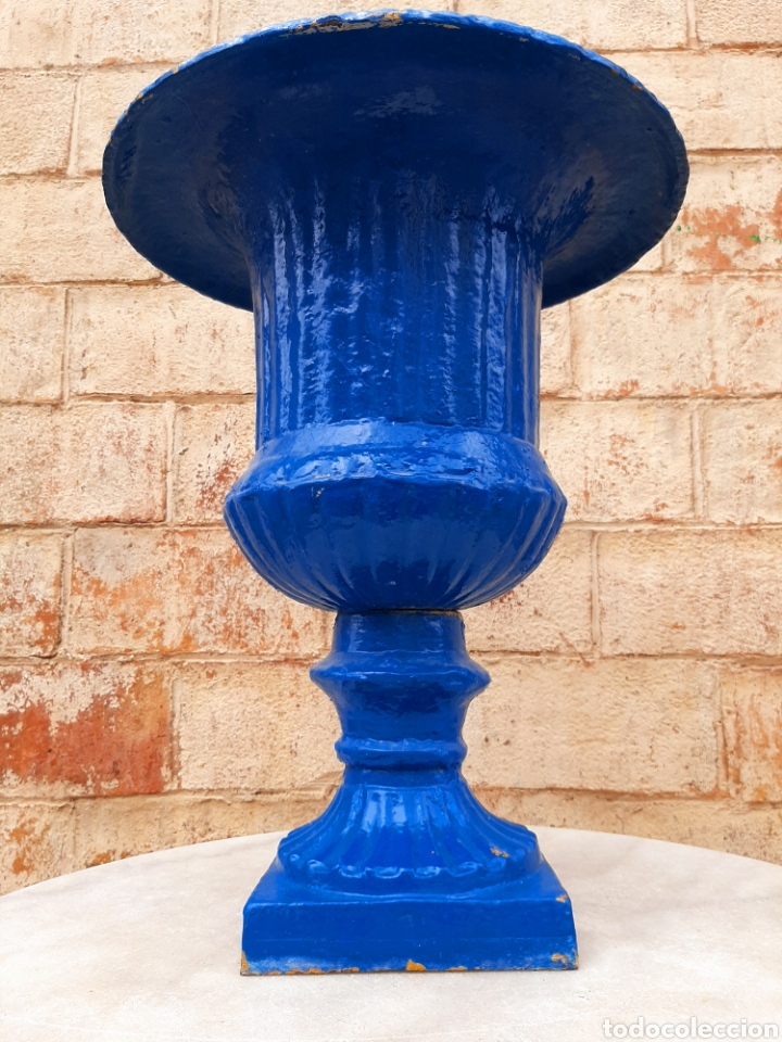 Antigüedades: Copa - macetero - jardinera antigua francesa - Foto 6 - 207081043