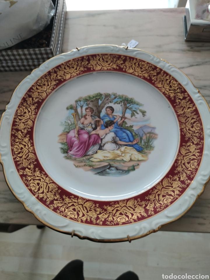 ESPECTACULAR PLATO SANTA CLARA SELLADO MAH (Antigüedades - Porcelanas y Cerámicas - Santa Clara)