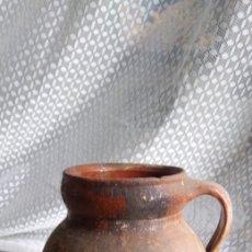 Antigüedades: ANTIGUA JARRA / DE BARRO / HECHA EN LEON / JIMENEZ DE JAMUZ .. Lote 207104510