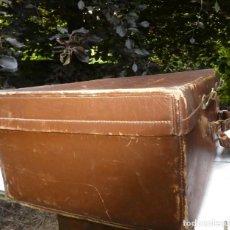 Antigüedades: MALETA DE CUERO GRANDE. Lote 207128006