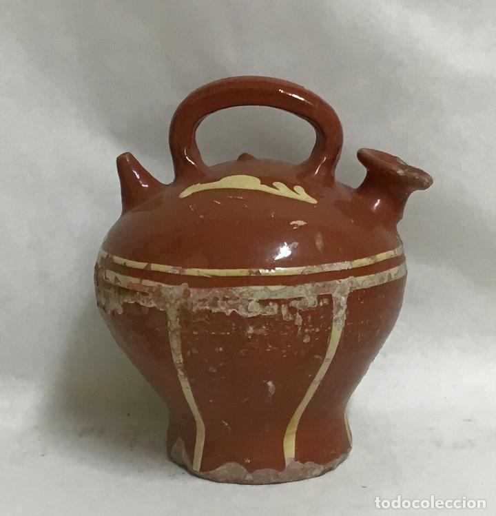 Antigüedades: ANTIGUO BOTIJO DECORADO, LA BISBAL - Foto 3 - 207128343