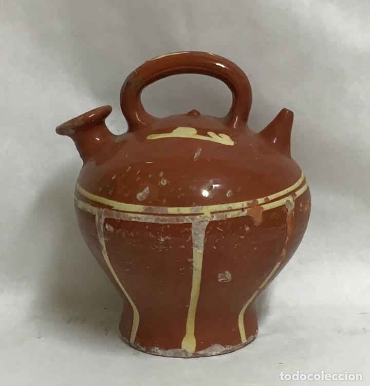ANTIGUO BOTIJO DECORADO, LA BISBAL (Antigüedades - Porcelanas y Cerámicas - La Bisbal)
