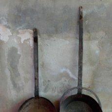 Antigüedades: DOS ANTIGUAS SARTENES RECUPERADAS DE CORTIJO. Lote 207134178