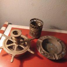 Antigüedades: LOTE 3 ARTÍCULOS BRONCE. Lote 207135545