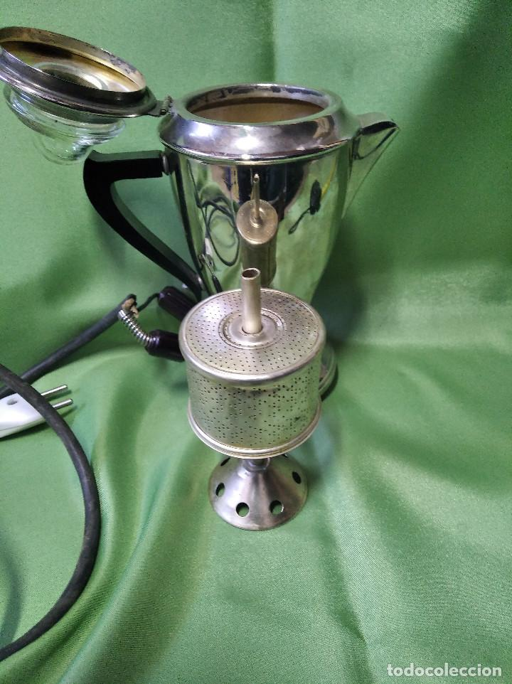 Antigüedades: Cafetera electrica antigua mediados siglo xx perfecta funcionando - Foto 4 - 207144665