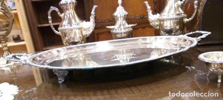 Antigüedades: JUEGO DE CAFÉ Y TÉ ALPACA BAÑO DE PLATA. CON DECORACIÓN. 6 PIEZAS . ESPECTACULAR - Foto 5 - 207190447