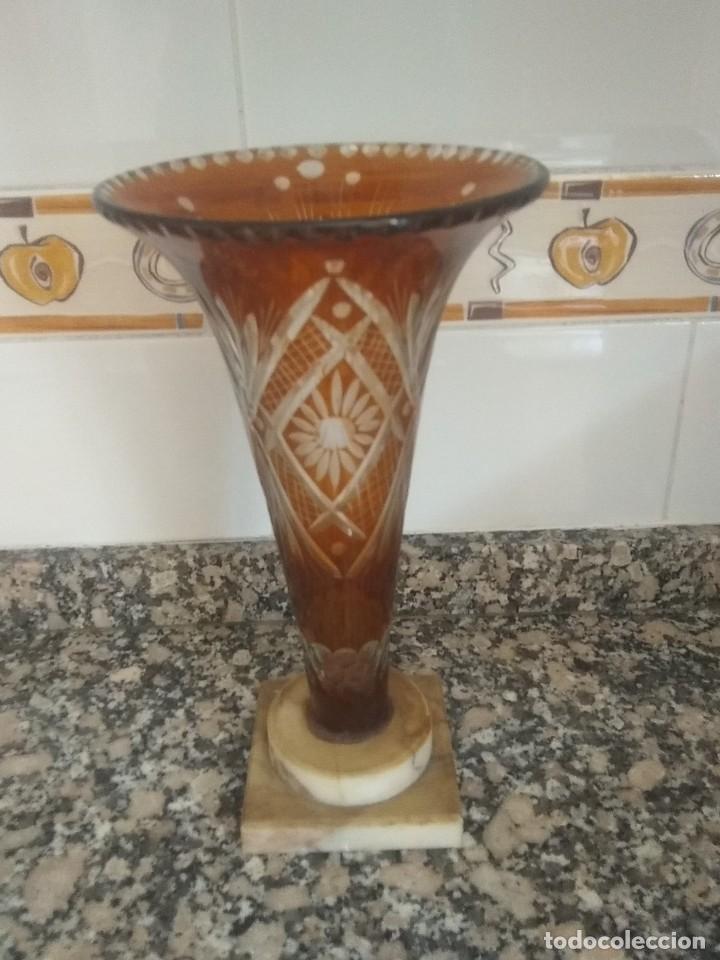 JARRÓN ANTIGUO DE BOHEMIA (Antigüedades - Cristal y Vidrio - Bohemia)