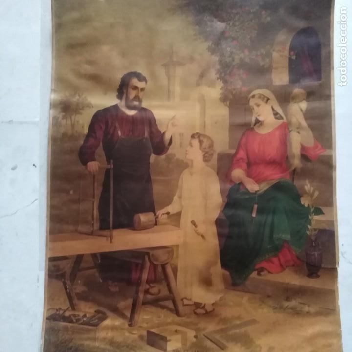 LA SAGRADA FAMILIA, SIGLO XIX (Antigüedades - Religiosas - Varios)