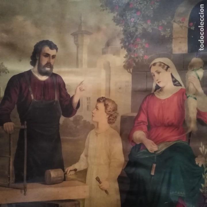 Antigüedades: La Sagrada Familia, siglo xix - Foto 2 - 207202773