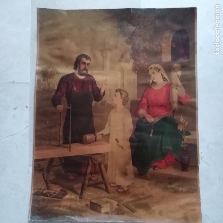 Antigüedades: La Sagrada Familia, siglo xix - Foto 7 - 207202773