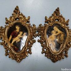 Antigüedades: DOS MARCOS DE FOTOS DE BRONCE ANTIGUOS.. Lote 207218547