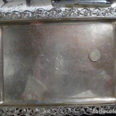 Antigüedades: EXCELENTE BANDEJA DE PLATA DE LEY 916 MM MACIZA -AÑOS 1940 - PESO 460 GRAMOS - BUENA INVERSION. Lote 207249622