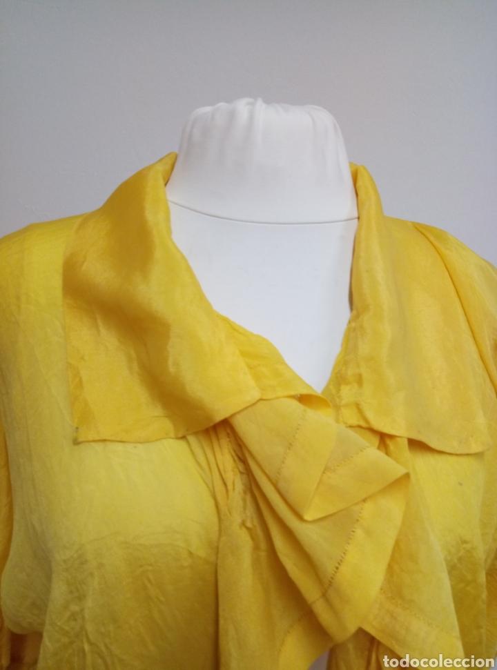 Antigüedades: Camisa seda amarilla art deco - Foto 2 - 207252475