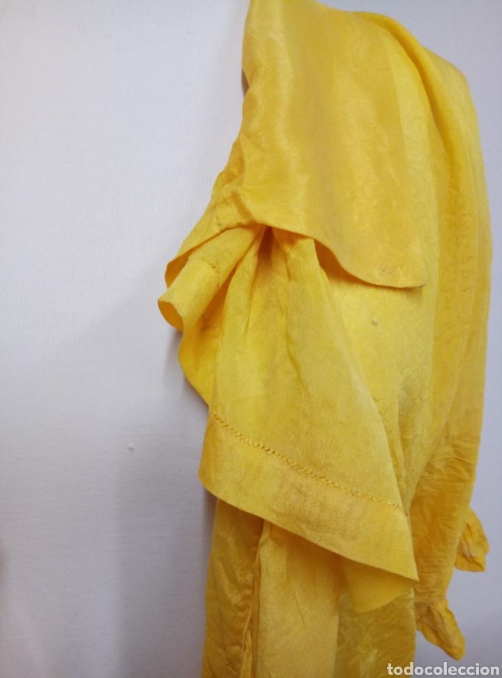 Antigüedades: Camisa seda amarilla art deco - Foto 4 - 207252475