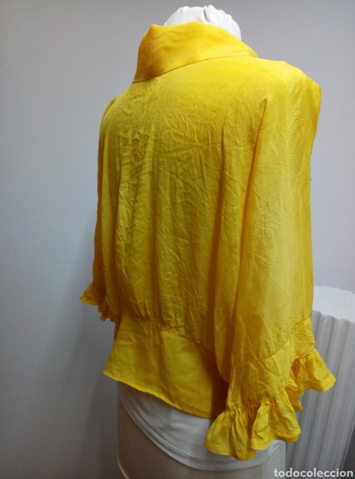 Antigüedades: Camisa seda amarilla art deco - Foto 5 - 207252475