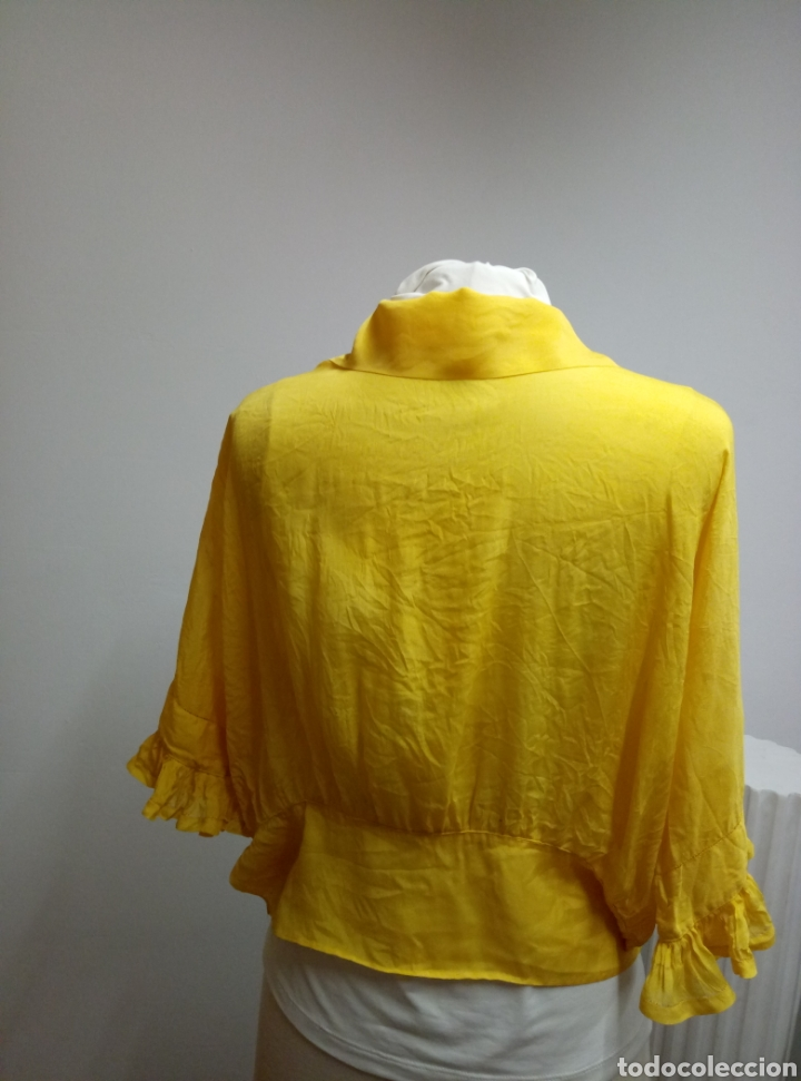 Antigüedades: Camisa seda amarilla art deco - Foto 6 - 207252475