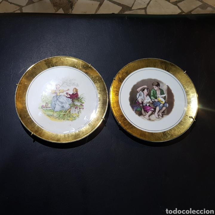 LOTE DE 2 PLATO DECORATIVOS (Antigüedades - Porcelanas y Cerámicas - Otras)