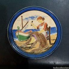Antigüedades: PLATO DECORATIVO CERAMICA. Lote 207260760