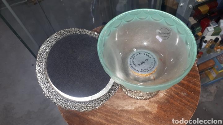 Antigüedades: Original Bombonera o gran copa de cristal de Murano made in italy R. ARG. 925 - Foto 4 - 207273128