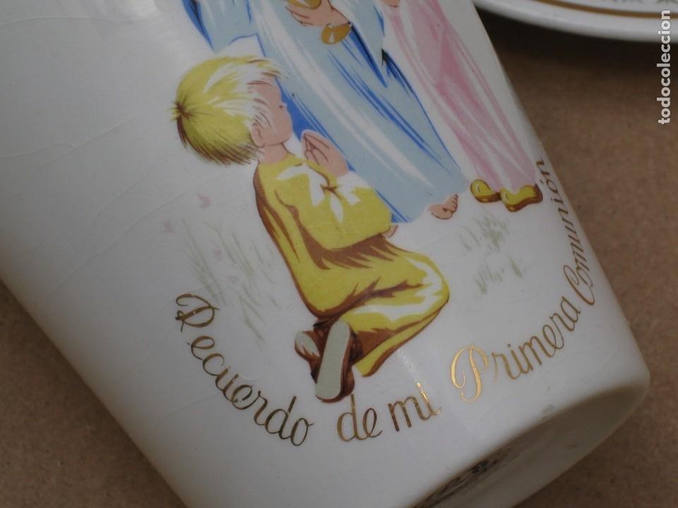 Antigüedades: Antiguo juego de porcelana.Rdo primera comunión.San claudio Oviedo. - Foto 15 - 207283592