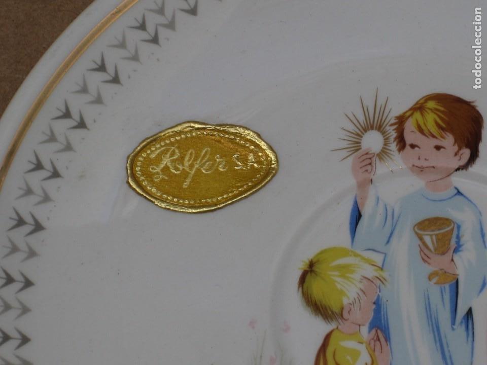 Antigüedades: Antiguo juego de porcelana.Rdo primera comunión.San claudio Oviedo. - Foto 18 - 207283592