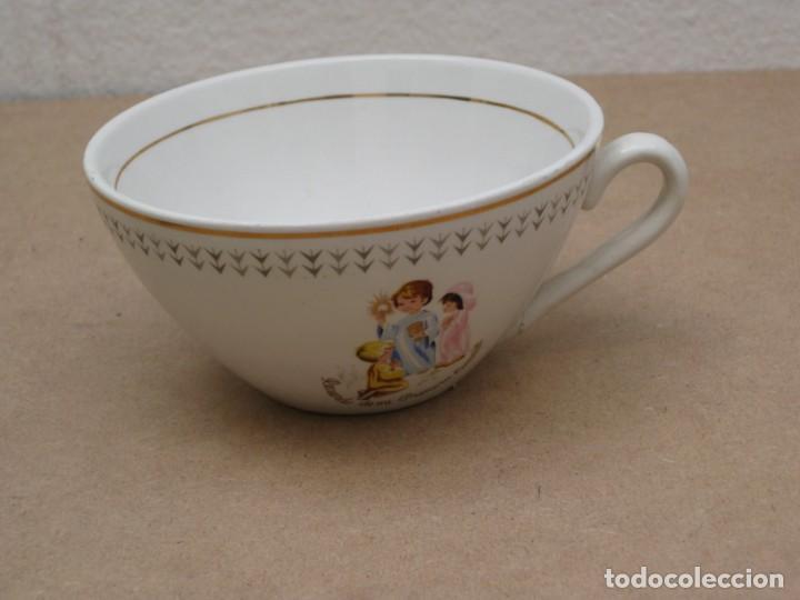 Antigüedades: Antiguo juego de porcelana.Rdo primera comunión.San claudio Oviedo. - Foto 19 - 207283592
