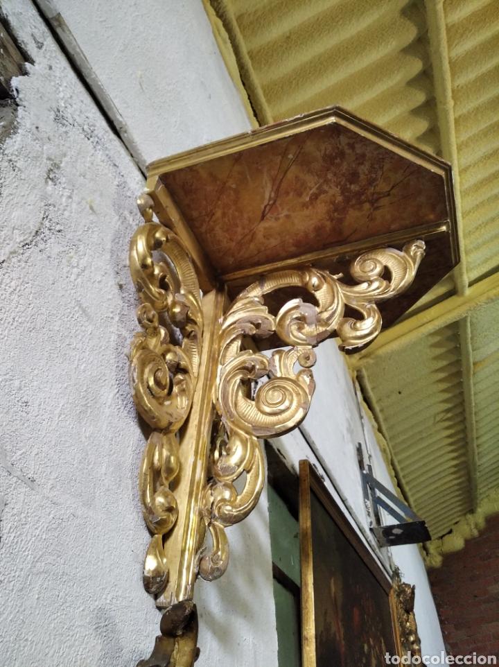 Antigüedades: PEANA O MENSULA DE MADERA - Foto 2 - 286822128