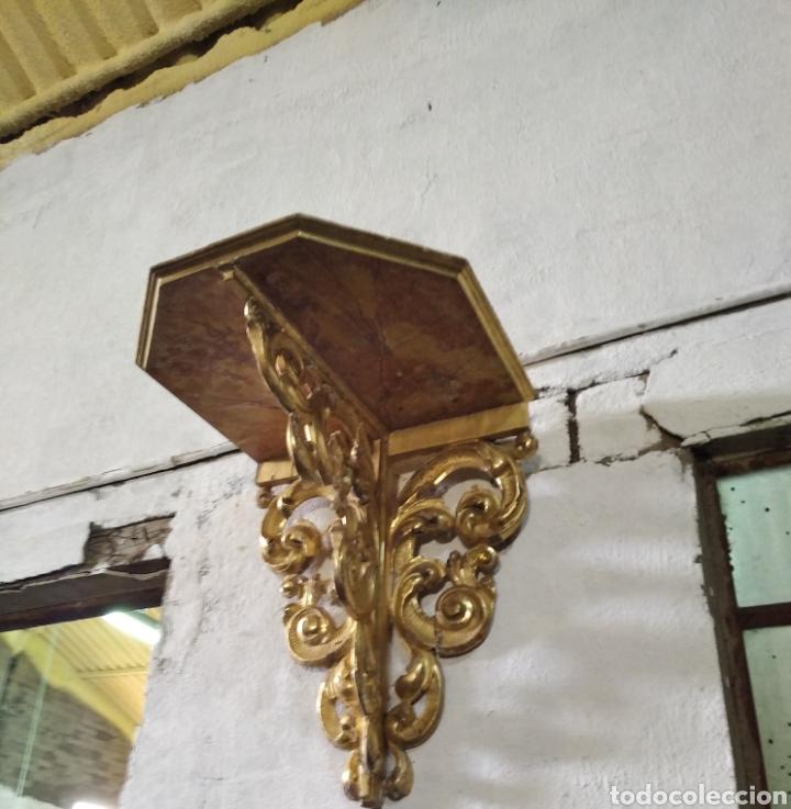 Antigüedades: PEANA O MENSULA DE MADERA - Foto 3 - 286822128