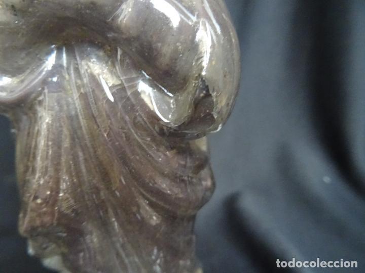 Antigüedades: Virgen inmaculada.cristal de la Granja.siglo XIX - Foto 5 - 207315400