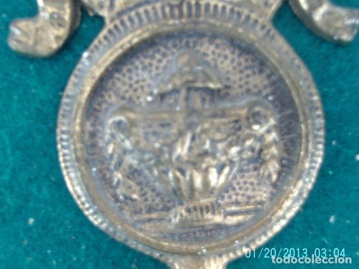 Antigüedades: ALZAPAÑOS RECOGE CORTINAS METAL - Foto 4 - 207321987
