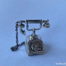 Antigüedades: TELÉFONO DE PLATA 925. Lote 207328032