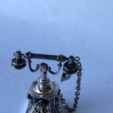 Antigüedades: ANTIGUO TELÉFONO DE PLATA 925. Lote 207331078