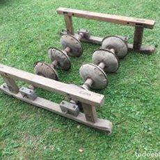 Antigüedades: ARADO DE TRACCIÓN ANIMAL ANTIGUO, .- 120X125X50 CMS. MADERA Y HIERRO.. Lote 207334920