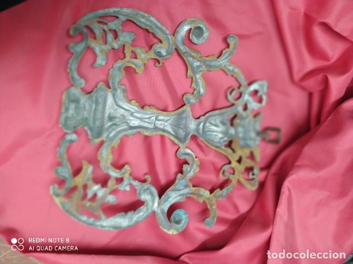 Antigüedades: Espectacular fornitura modernista de bronce finales de siglo XIX. Caja 3 - Foto 2 - 207336277