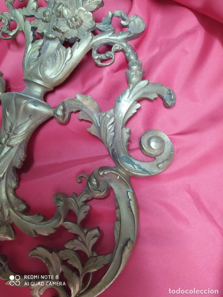 Antigüedades: Espectacular fornitura modernista de bronce finales de siglo XIX. Caja 3 - Foto 8 - 207336277