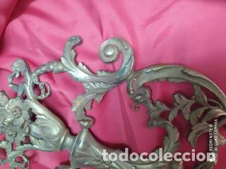 Antigüedades: Espectacular fornitura modernista de bronce finales de siglo XIX. Caja 3 - Foto 9 - 207336277