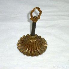 Antigüedades: FLORON DE BRONCE PARA COLGAR LAMPARA DE TECHO.8 CM.DE DIAMETRO.. Lote 207337903