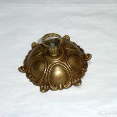 Antigüedades: FLORON DE BRONCE PARA COLGAR LAMPARA DE TECHO.10 CM.DE DIAMETRO.. Lote 207337978