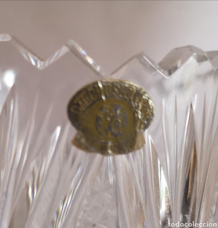 Antigüedades: Jarrón o florero de cristal de bohemia Czechoslovakia Checoslovaquia - Foto 5 - 207339477