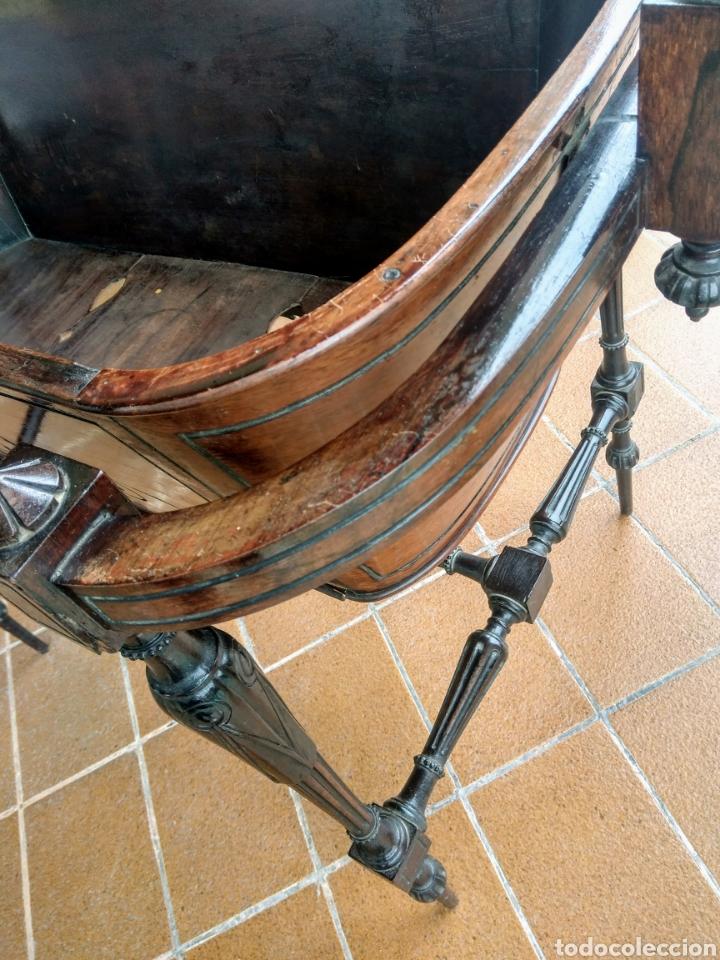 Antigüedades: Antigua cuna de madera. Siglo XIX. - Foto 5 - 207418611