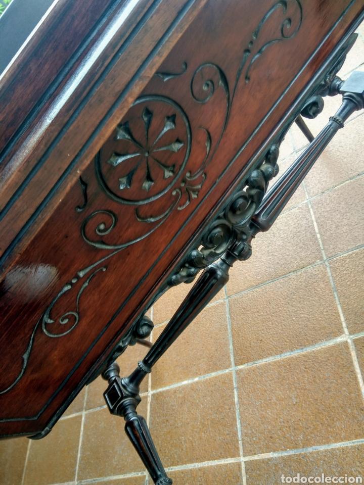 Antigüedades: Antigua cuna de madera. Siglo XIX. - Foto 7 - 207418611