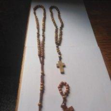 Antigüedades: LOTE DE TRES ROSARIOS. Lote 207427735