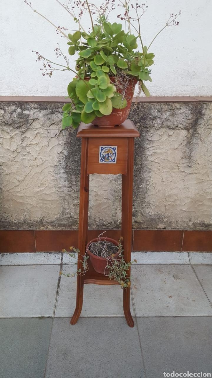 MACETERO DE MADERA (Antigüedades - Hogar y Decoración - Maceteros Antiguos)