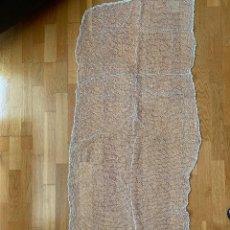 Antigüedades: 2 CORTINAS DE MALLA. 1,80 CM X 75 CM. Lote 207486275