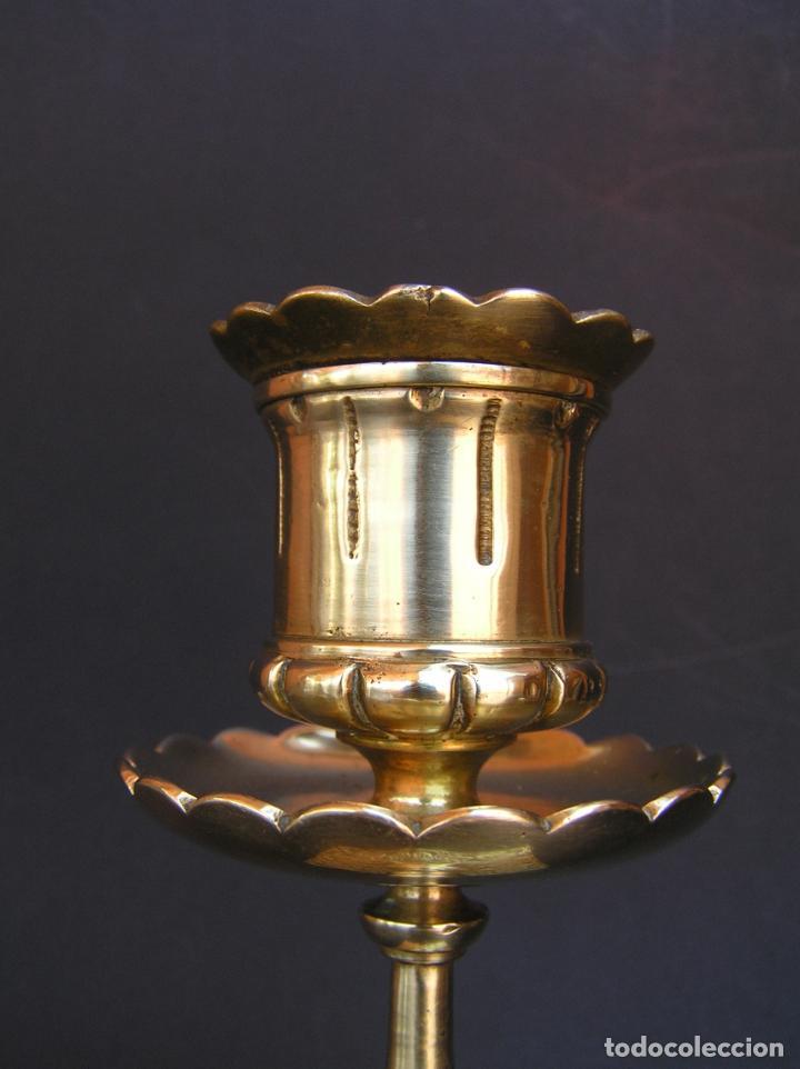 Antigüedades: Precioso candelero TOWNSHEND & CO . Circa 1900. .15 cm. - Foto 7 - 207489346