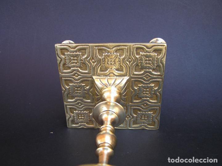 Antigüedades: Precioso candelero TOWNSHEND & CO . Circa 1900. .15 cm. - Foto 8 - 207489346