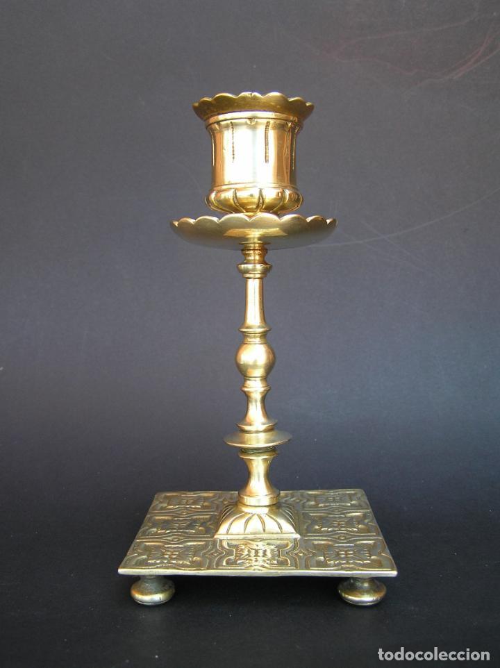 Antigüedades: Precioso candelero TOWNSHEND & CO . Circa 1900. .15 cm. - Foto 18 - 207489346