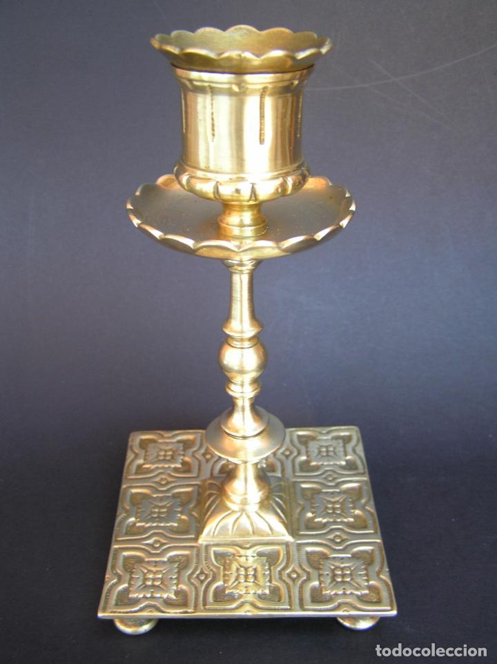 Antigüedades: Precioso candelero TOWNSHEND & CO . Circa 1900. .15 cm. - Foto 19 - 207489346