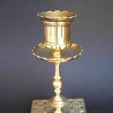 Antigüedades: PRECIOSO CANDELERO TOWNSHEND & CO . CIRCA 1900. .15 CM.. Lote 207489346